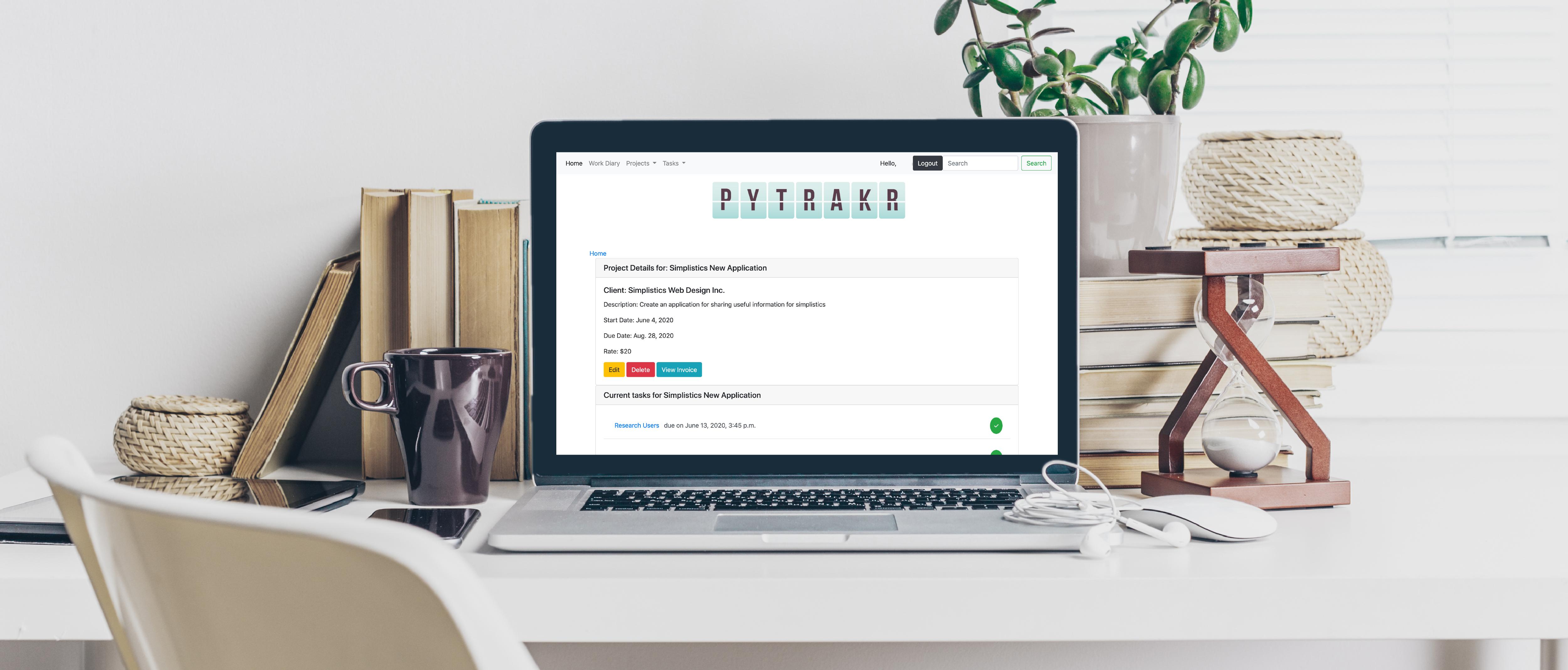 PyTraker task management software